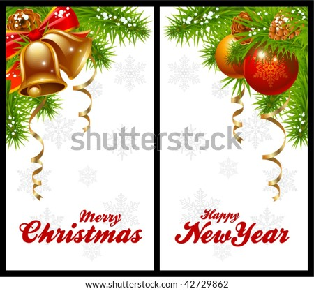 Christmas  on Christmas Greeting Cards Stock Vector 42729862   Shutterstock