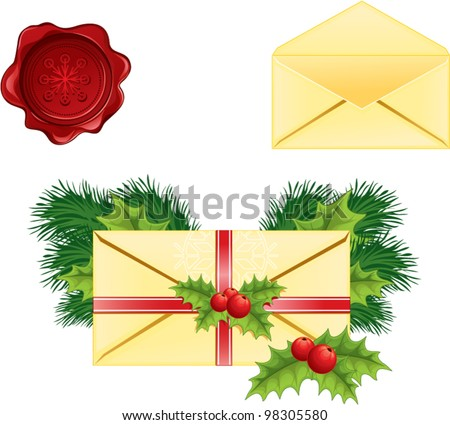 Christmas greeting letter vector
