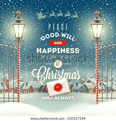 christmas greeting type design