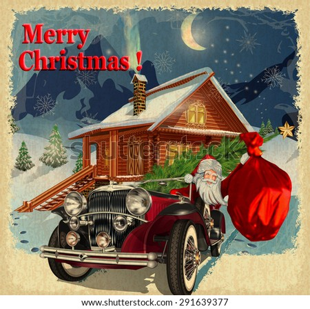 Christmas Greeting Vintage Card