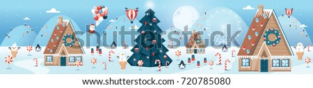 christmas greetings template vector/illustration