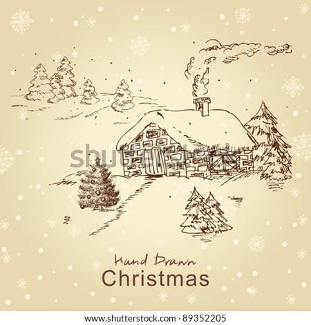 christmas hand drawn christmas