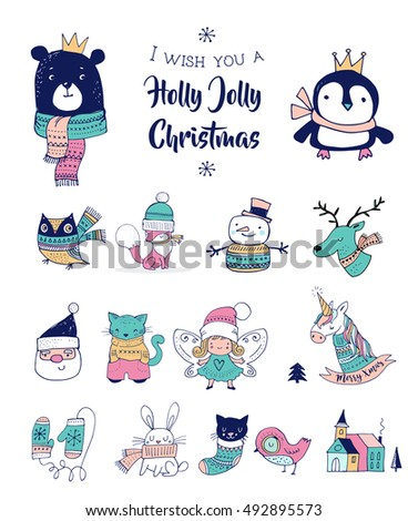 christmas hand drawn cute
