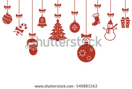 christmas hanging ornaments background christmas banner