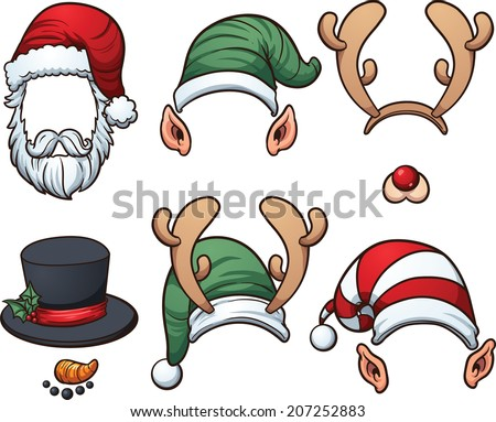 christmas hats vector clip art