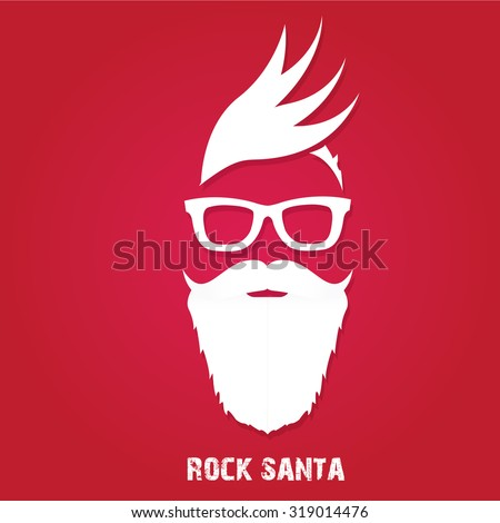 christmas hipster poster for