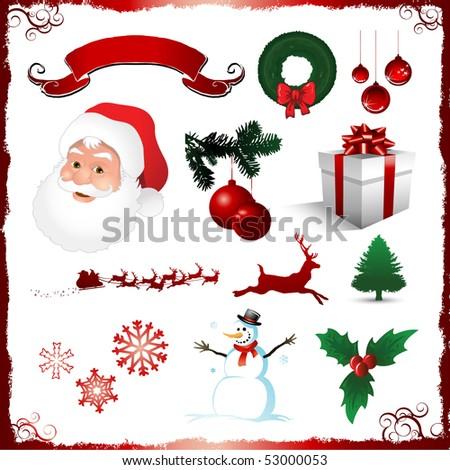 Christmas holiday elements