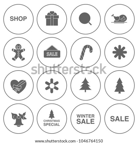 christmas Holiday icons set - beach summer sign and symbols - travel illustrations