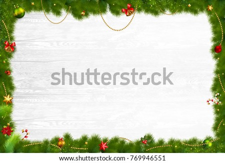 Christmas holidays composition on grey wooden background with space for your text #769946551