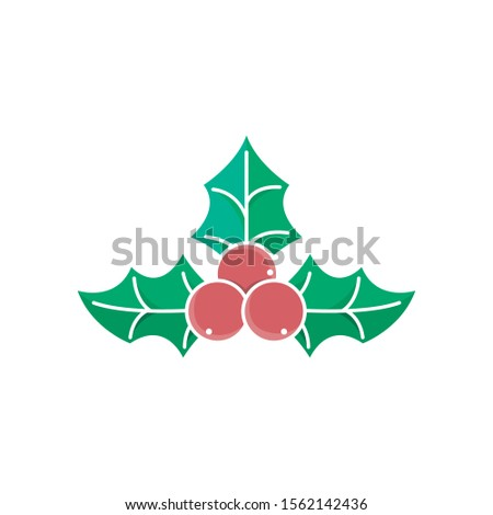 Christmas Holly Berry icon vector illustration isolated on white background. Christmas Holly Berry in trendy flat design style. Christmas Holly Berry vector icon modern and simple flat design.