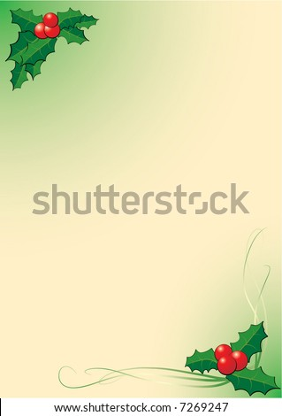 formal letter background. holly letter background