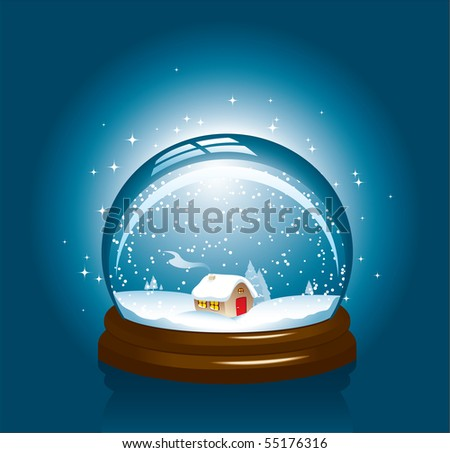 Christmas house in a sphere