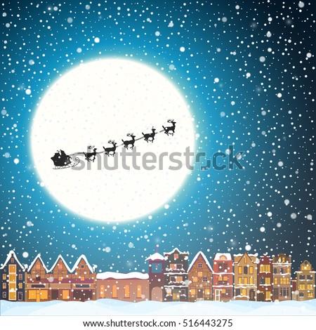 christmas house snowfall at the ...