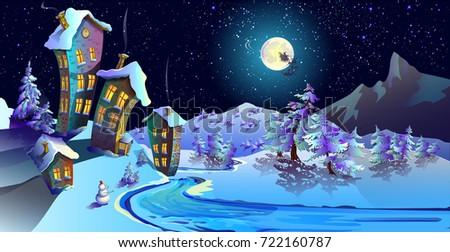christmas  houses house with