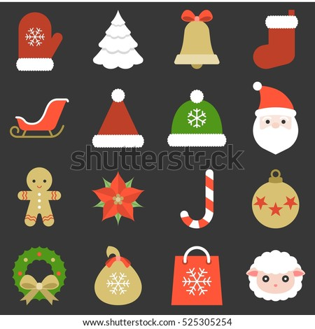 christmas icon  ornaments and