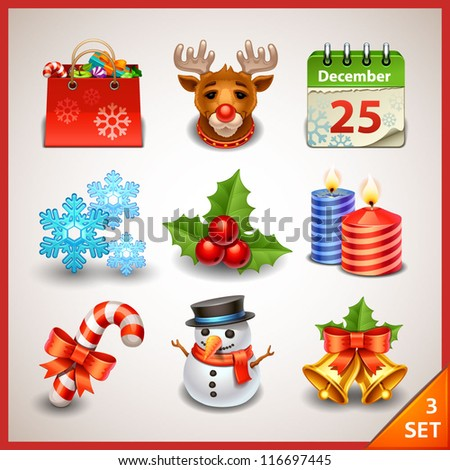 Christmas icon set-3