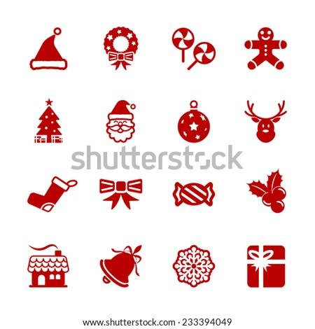 christmas icon set 6  vector
