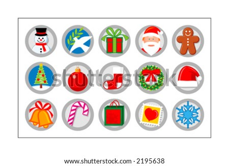 christmas icon set   version 1