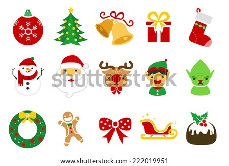 christmas icons   illustration