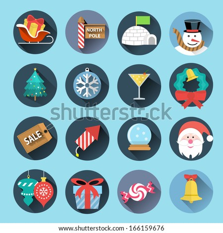 christmas icons set 2