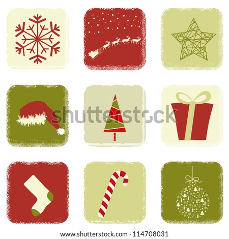Christmas icons with a retro flavor