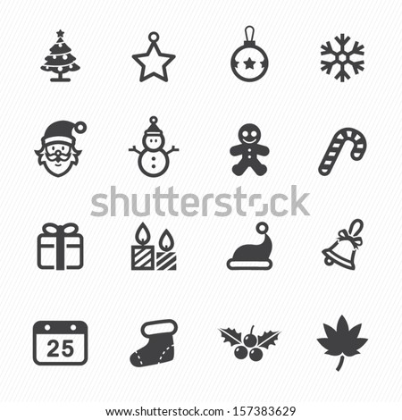Stock Photo Christmas Icons with White Background