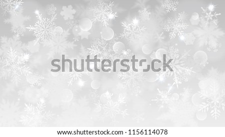 Beautiful Christmas Snowflakes Vector Background