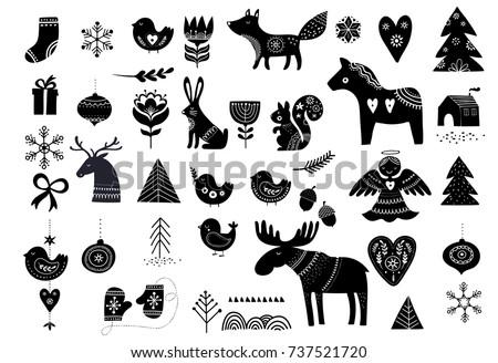 christmas illustrations  hand