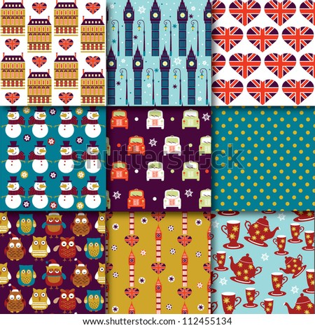 Christmas in London Pattern Collection