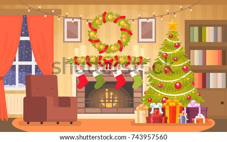 christmas interior of the
