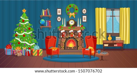 christmas interior with