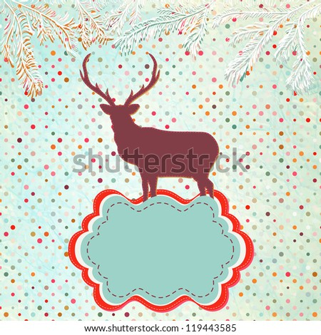 Christmas Invitation card template. And also includes EPS 8 vector