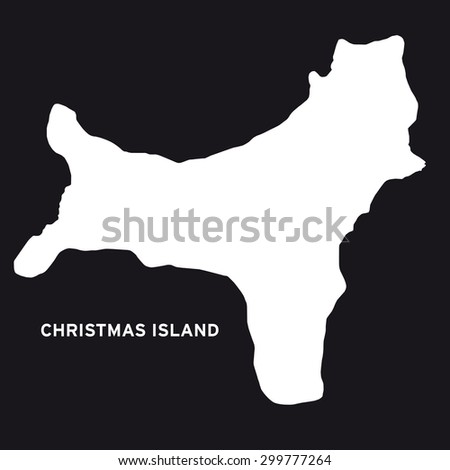 christmas island map vector