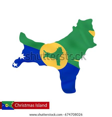christmas island map with
