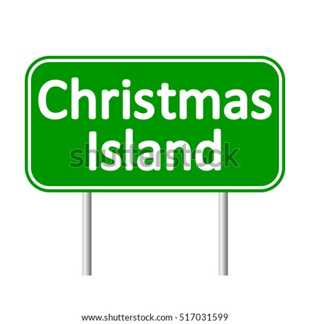 christmas island road sign