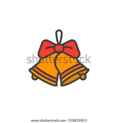 christmas jingle bells with bow