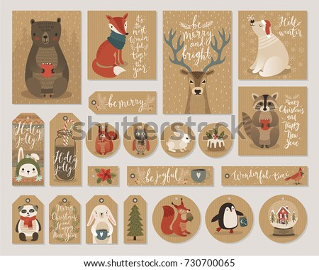 christmas kraft paper cards and