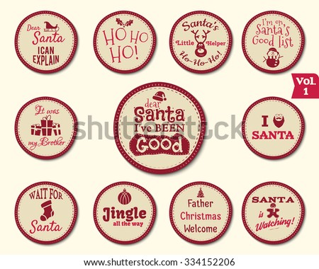 christmas vector badges and labels download free vector art stock
