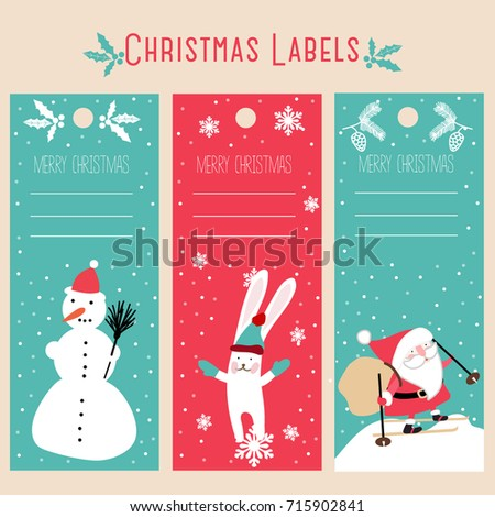 christmas labels, template