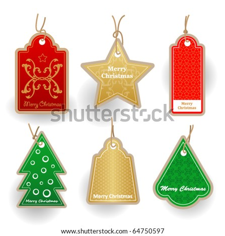 Christmas labes collection. Price tags.