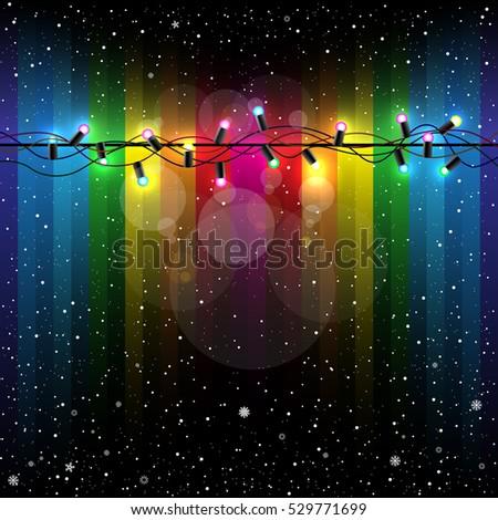 christmas lamp light on dark