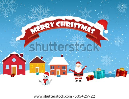 christmas landscape background