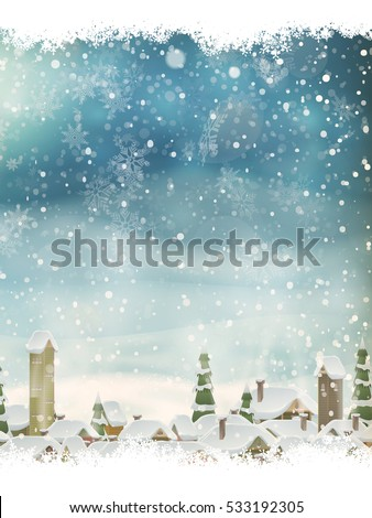 stock-vector-christmas-landscape-with-christmas-tree-background-with-moon-concept-for-greeting-or-postal-card
