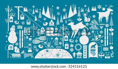christmas landscape with