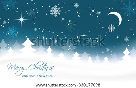 christmas landscape with trees