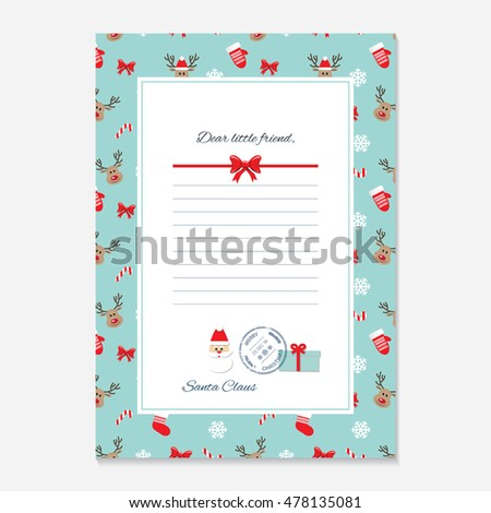 Santa's Letter Template | Download Free Vector Art | Free-Vectors