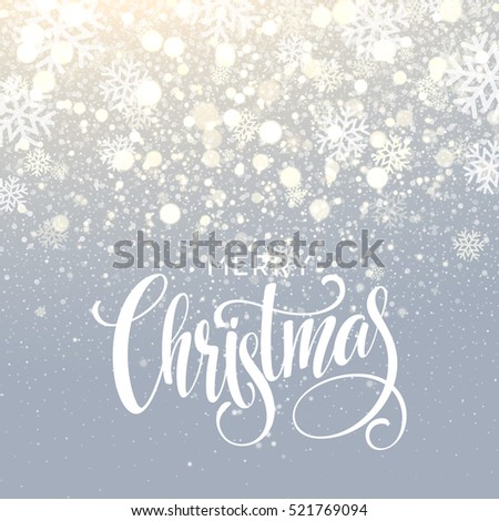 christmas lettering on