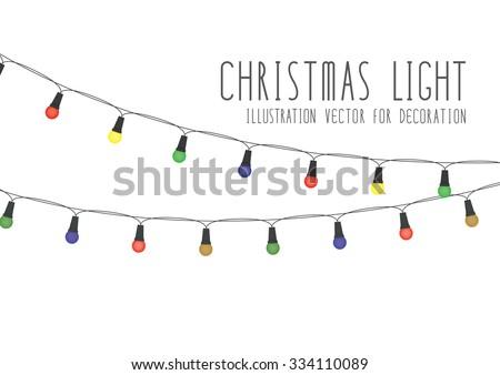 christmas light illustration