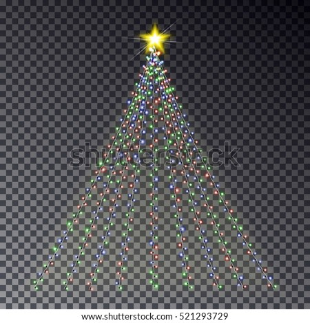 christmas light tree  string