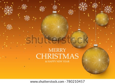 Christmas light vector background. Card or invitation